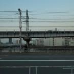 大阪市此花区西九条近辺、2013年1月。