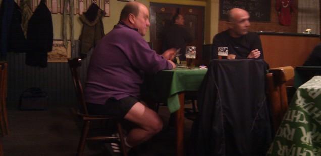 半ズボン親父の伝説。パルドゥビチェ、チェコ共和国。2013年12月9日。