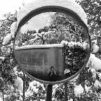 新年早々雪。2015年1月2日。京都・鷹峯。