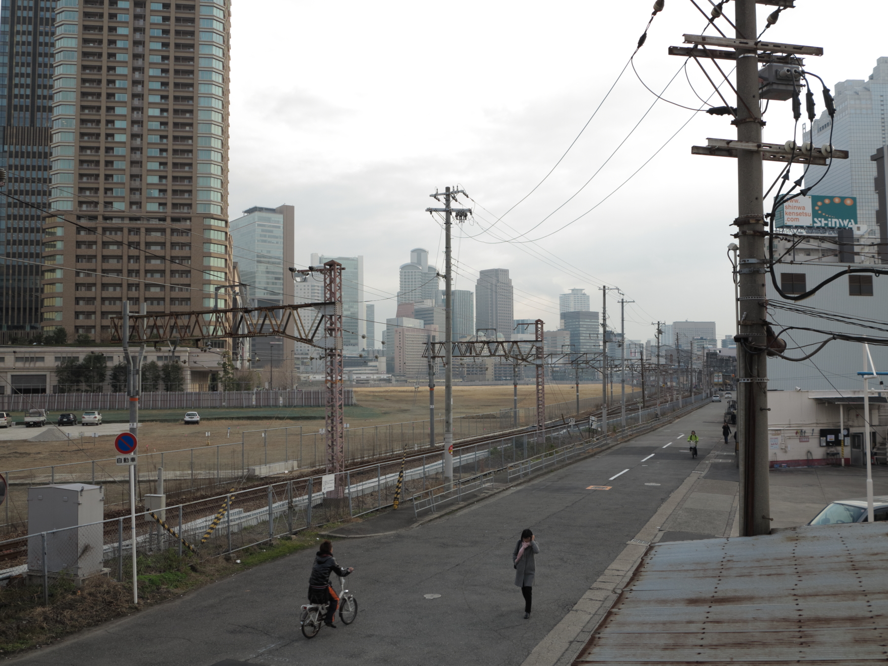 中津、大阪市北区、2016年1月7日午後